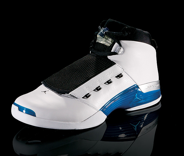 The jazz-themed Air Jordan XVII paid tribute to Jordan's love of golf with a sole design based on a golf course.