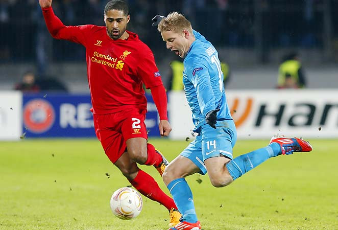 Zenit St. Petersburg beat Liverpool 2-0 in the Europa League on Thursday.