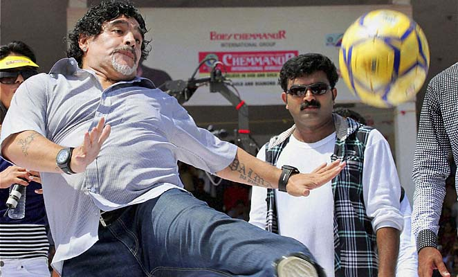 Diego Maradona last managed in the United Arab Emirates last year.