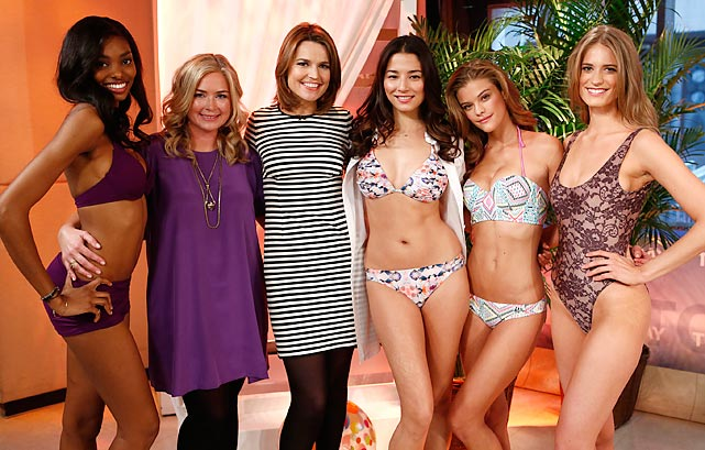 SI swimsuit models joined Savannah Guthrie on the set to discuss how to dress for the brisk winter weather in New York City.