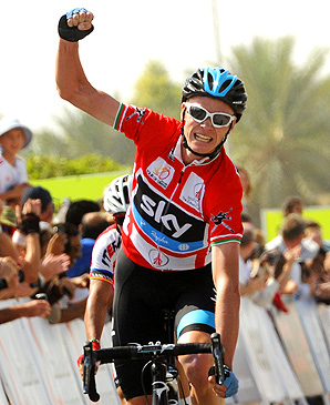 Team Sky's Christopher Froome leads Alberto Contador by 27 seconds with one stage left.