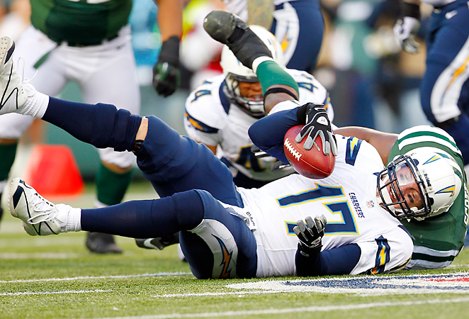 Philip Rivers found himself sacked more than any quarterback not named Aaron Rodgers in 2012.