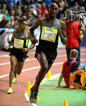 Bernard Lagat finished fourth in the 5,000 meters at the London Olympics last summer.