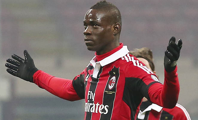 AC Milan will face Barcelona in the Champions League next week without Cup-tied Mario Balotelli.