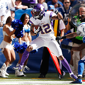 Percy Harvin is heading into the final year of his contract with the Vikings after catching 62 passes for 677 yards in nine games last year.