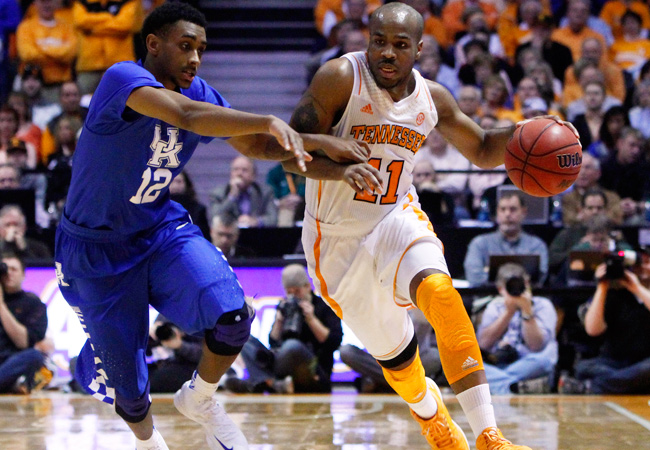 Trae Golden scored 24 as Tennessee got its most lopsided win in the 216-game history of the UT-Kentucky series.