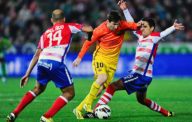Lionel Messi extended his record-scoring run to 14 Spanish league games.