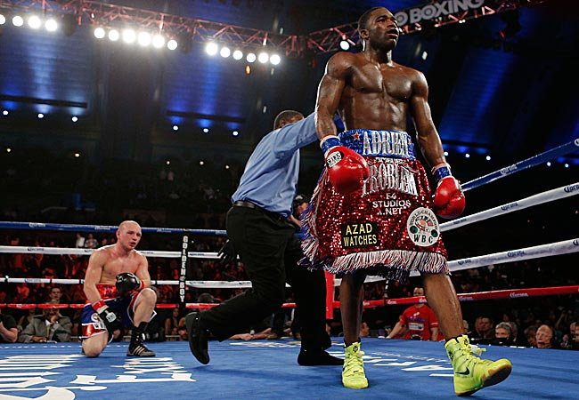 Broner, a 23-year-old Cincinnati native, controlled most of the bout before winning by TKO in the fifth round.