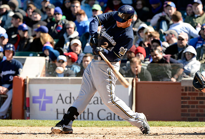 Brewers first baseman Mat Gamel tore his ACL in his right knee and will miss the 2013 season.