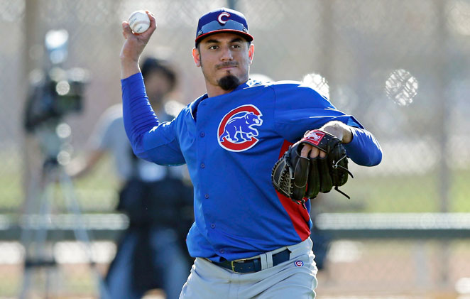 Matt Garza will undergo an MRI to determine the severity of an injury he suffered in batting practice.