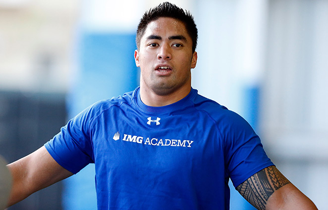 Manti Te'o has been training in Florida preparing for this week's NFL combine.