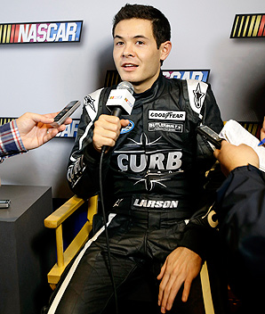 Kyle Larson's aggressive win at Battle of the Beach attracted attention of several Sprint Cup drivers.