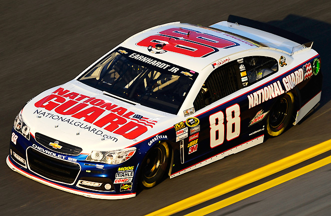 The National Guard will adorn the top and sides of Dale Earnhardt Jr.'s car for 20 races this season, but he's still without sponsors for a few races.