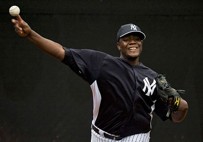 Michael Pineda is still recovering from a shoulder injury and will be out until at least June.