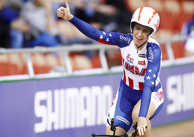 Sarah Hammer's gold medal at the 2013 track cycling world championships was her fifth career title.