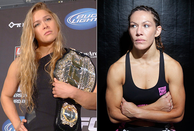"Ronda Rousey (left) and Cris ""Cyborg"" Santos would fight, but would the UFC make it happen?"