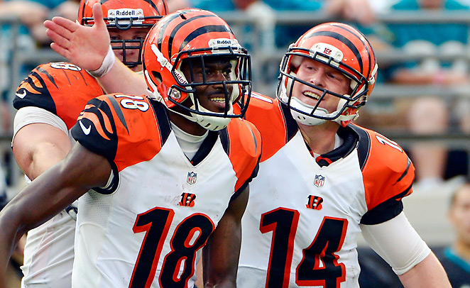 A.J. Green caught 36.7 percent of the Bengals' passing output from Andy Dalton in 2012.