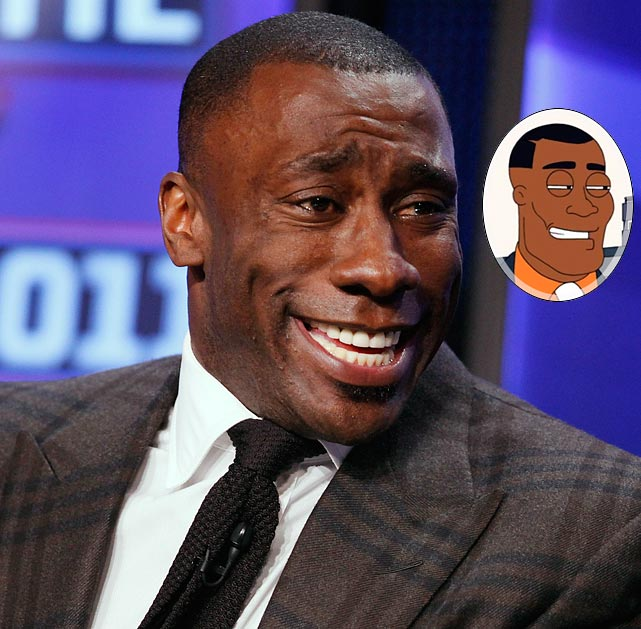"""Episode: The Scarlett Getter First aired: Nov. 27, 2011 <underline>Memorable Moment</underline> <italics>Sharpe is introduced as a freelance alien hunter to CIA agents Stan, Dick, Jackson and Sanders.</italics> <bold>Dick</bold>: """"Shannon Sharpe! The football guy?!"""" <bold>Sharpe</bold>: """"Yeah. I hunt aliens now. Used to catch TDs, now I catch ETs."""" <bold>Dick</bold>: """"You ever caught an alien, Shannon?"""" <bold>Sharpe</bold>: """"Not yet Mr. Question, but I'll let you know when I do."""""""