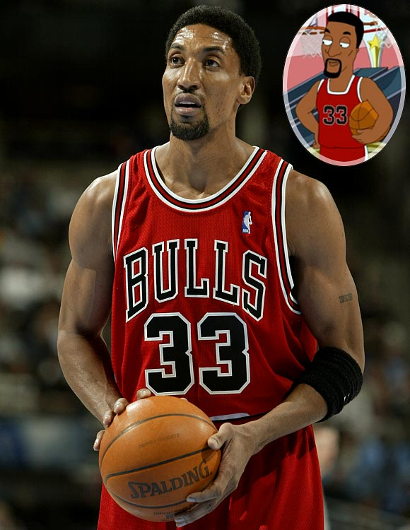 """Episode: Love Rollercoaster First aired: Jan. 10, 2010 <underline>Memorable Moment</underline> <italics>Cleveland Jr. sings a love song, imagining himself at a Cheesy Charlie's. He misses a basket at the Pop-A-Shot game, but Scottie Pippen shows up to grab the rebound.</italics> <bold>Cleveland Jr.</bold>: """"Thank you, Scottie Pippen."""" <bold>Pippen</bold>: """"No problem. Just here dropping off an application. Players in my day didn't make as much as they do today."""""""