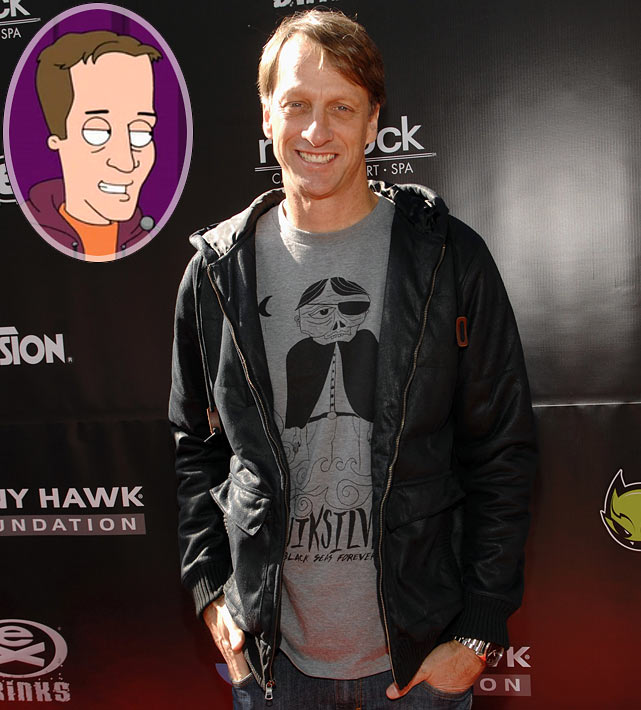 """Episode: Back To Cool First aired: April 17, 2011 <underline>Memorable Moment</underline> <italics>Gus, the bartender, hosts the """"Coolympics"""" and introduces Tony Hawk as one of the judges.</italics> <bold>Gus</bold>: """"Our next judge takes a lot of credit while gravity does the work. Please welcome the only professional skateboarder in the universe, Tony Hawk."""" <italics>Tony Hawk skateboards onto the stage and flips his board into the crowd. A young woman catches the skateboard and repeatedly kisses it.</italics> <bold>Hawk</bold>: """"Even my board gets mad play."""""""