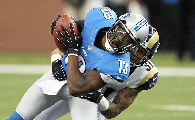 Ten-year veteran Nate Burleson said after the season he was willing to take a pay cut to stay in Detroit.