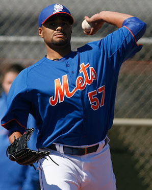 Johan Santana could miss the start of the regular season.