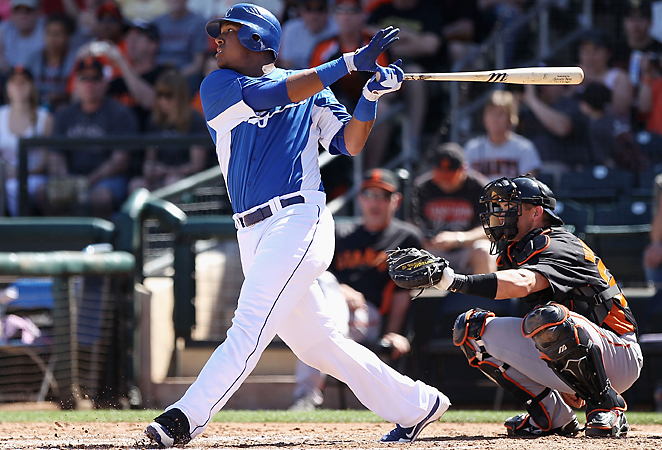 Catcher Salvador Perez returned from a knee injury last June to hit .301 with 11 homers and 39 RBI.