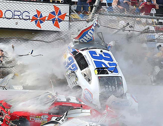 Daytona International Speedway President Joie Chitwood said 14 fans were treated on site, and 14 fans were taken to local hospitals.