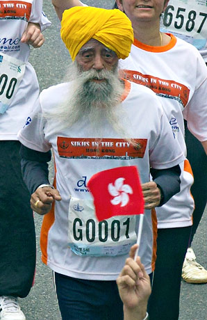 Fauja Singh, who turns 102 in April, only took up competitive running at the age of 89.