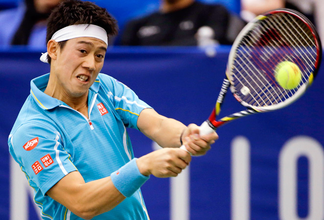 Kei Nishikori won his third career title at the U.S. National Indoor Championships.