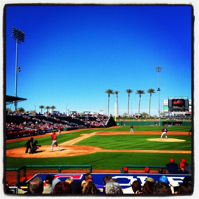 #indians and #reds #springtraining game in #goodyear. #instantbaseball