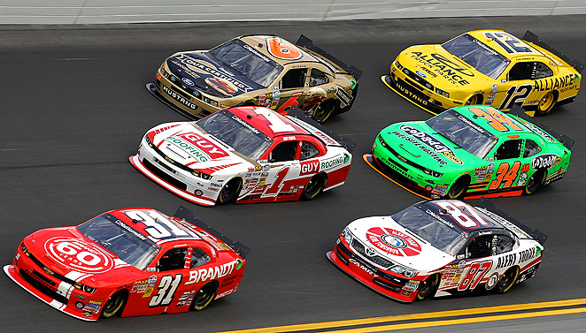 Danica Patrick ran near the front for the entirety of the Daytona 500, and finished in eighth place.