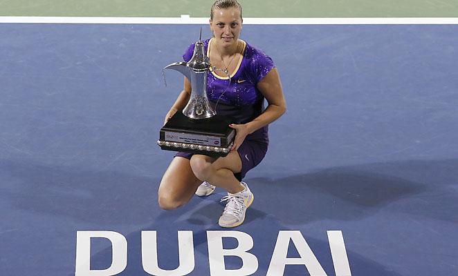 Petra Kvitova beat Agnieszka Radwanska, Caroline Wozniacki and Sara Errani in Dubai.