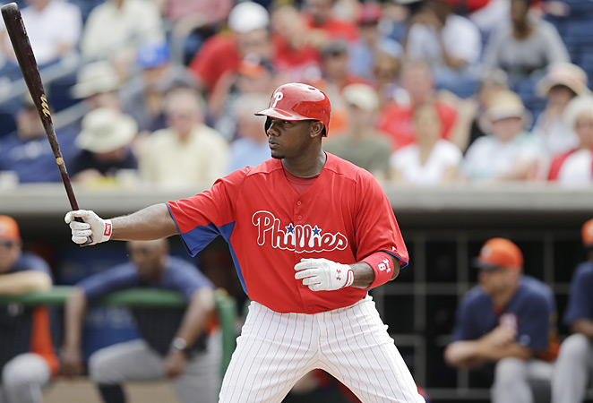 In coming back from a ruptured Achilles last season, Ryan Howard hit a career-low .219 in 71 games.