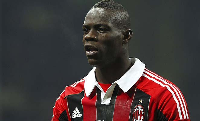 Mario Balotelli and AC Milan are in fourth place in Serie A.