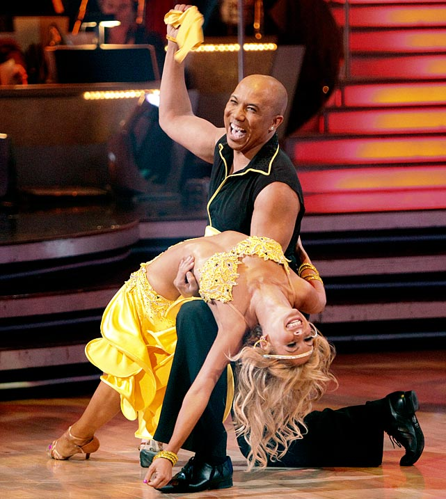 The NFL wide receiver won 1st place with dancing partner Kym Johnson.