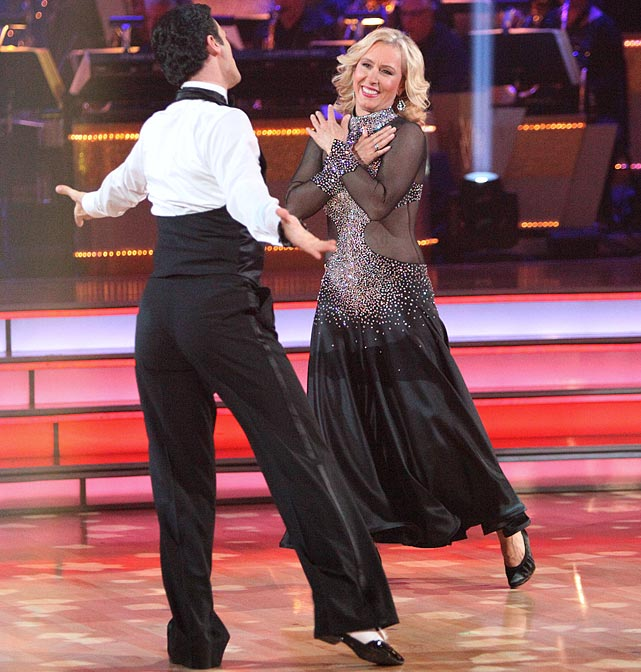 The retired professional tennis player finished in last place with dancing partner Tony Dovolani.