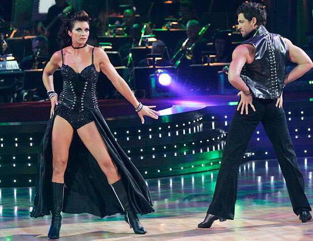 The Olympic champion beach volleyball player finished in 10th place with dancing partner Maksim Chmerkovskiy.