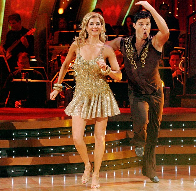 The former professional tennis player finished in 11th place with dancing partner Jonathan Roberts.