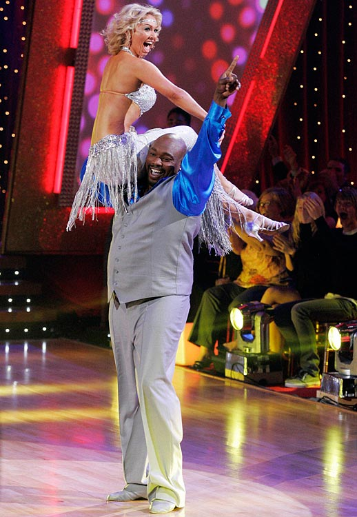 The retired NFL defensive tackle finished in 2nd place with dancing partner Kym Johnson.