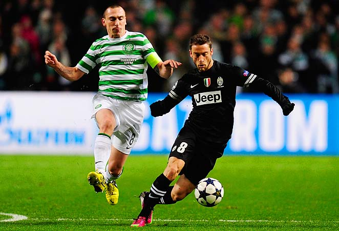Scott Brown (left) and Celtic are down 3-0 to Juventus in their Champions League tie.
