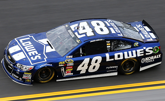 Jimmie Johnson's contract with Lowe's was extended through 2015, parallel to his contract with Hendrick motorsports.
