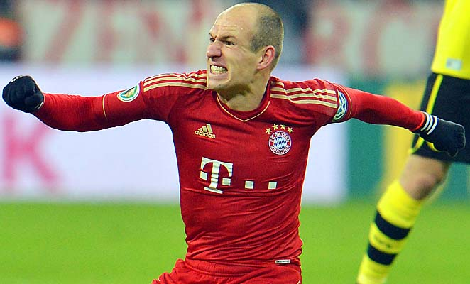 Arjen Robben and Bayern Munich have won all of their matches so far this year.