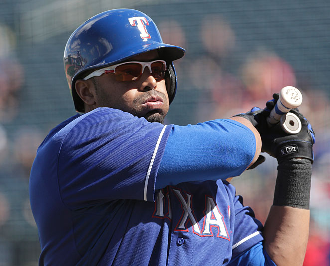 Nelson Cruz hit 24 home runs for the Rangers last season.