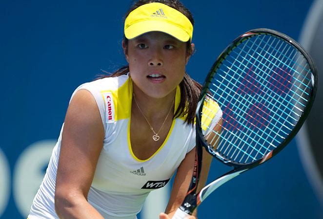 Ayumi Morita is ranked No. 55 with zero career WTA singles tournament titles.