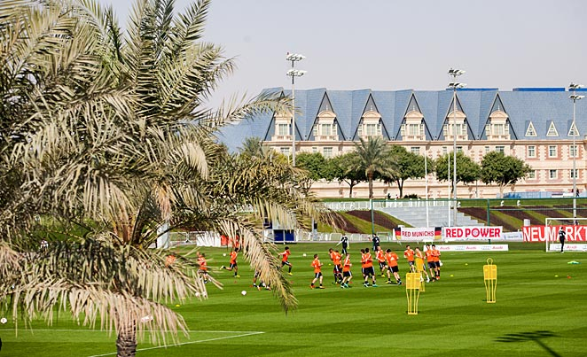 Qatar in June isn't ideal for soccer as temperatures can exceed 104 degrees.