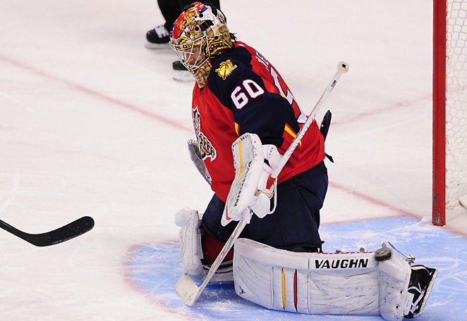 Panthers goalie Jose Theodore has struggled this season after a strong 2011-2012 campaign.