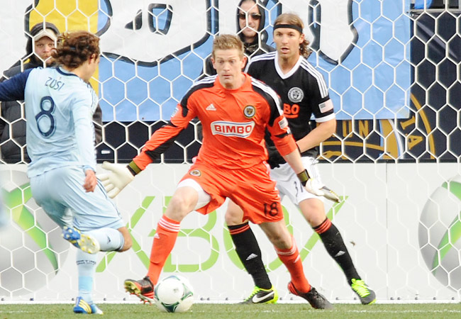 Graham Zusi had a hand in all three goals in Sporting KC's season-opening win in Philly.