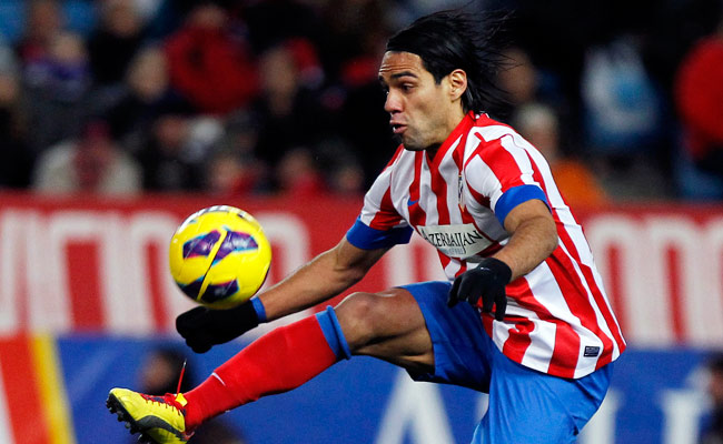 Neither striker Radamel Falcao nor his Atletico teammates were able score against Malaga on Sunday.