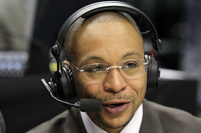 The energetic Gus Johnson is the first selection in the Ultimate College Basketball Broadcaster Draft.